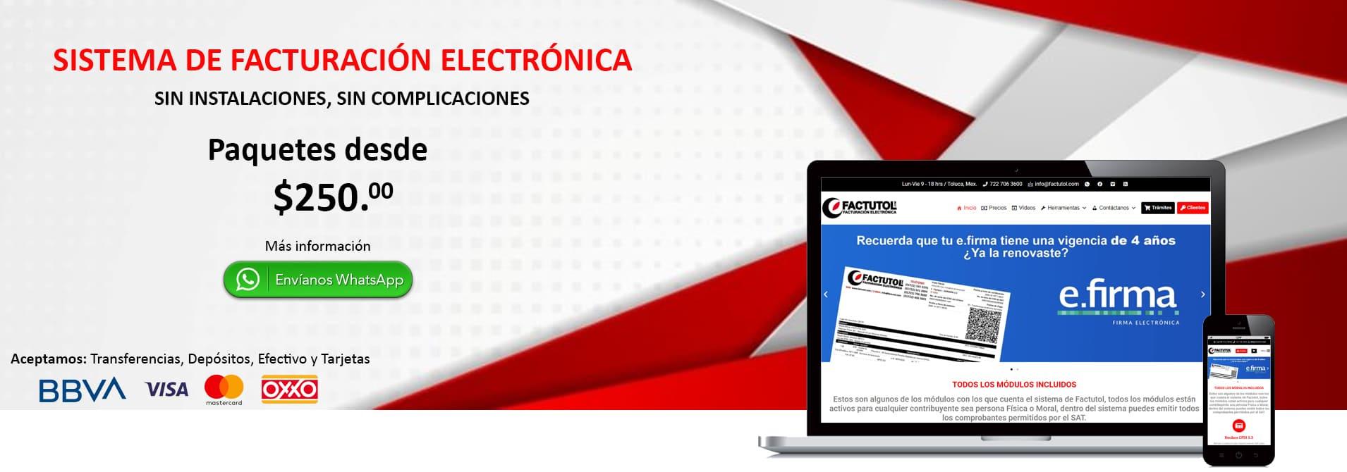 Sistema de Facturación Electronica en México min